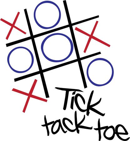 x games: Play a fun game with this tic tac toe design.