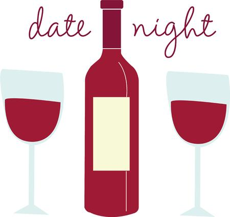 date night: A good bottle of wine is always appreciated. Illustration