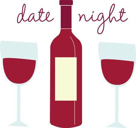 date night: A good bottle of wine is always appreciated. Illustration