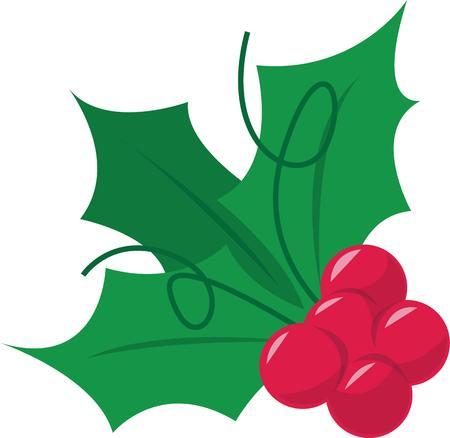 a sprig: Decorar para la Navidad con una ramita de acebo.