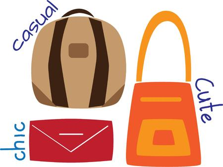 pocket book: Women love to shop and can always use a good purse. Illustration