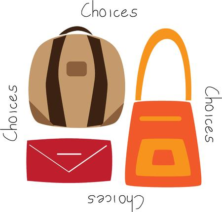 reticule: Women love to shop and can always use a good purse. Illustration