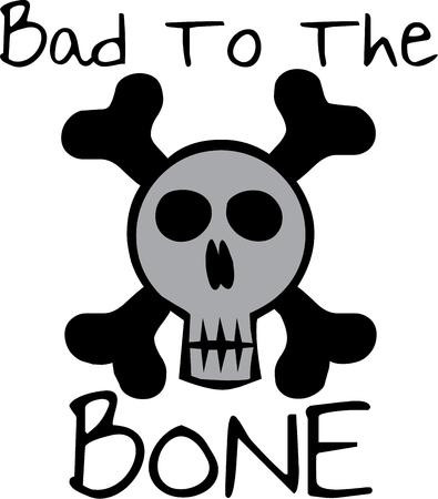 crossbone: Funny skull and crossbones for a rebel.