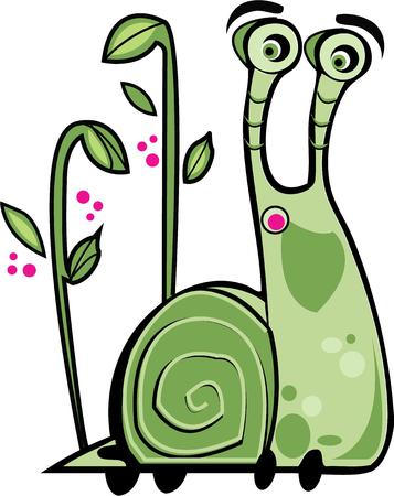 gastropod: Gardeners will love this cute snail.