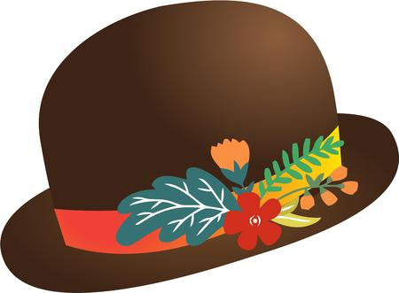festive occasions: Have a fancy hat for fun and festive occasions. Illustration