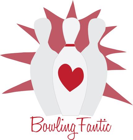 fanatic: Share your joy of bowling with this pin design.