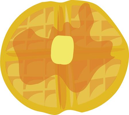 waffle: Use this waffle design for your breakfast project. Illustration