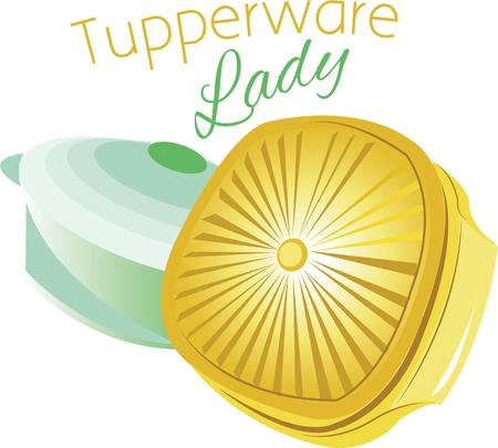 tupperware: All good cooks need some tupperware in their kitchen. Illustration