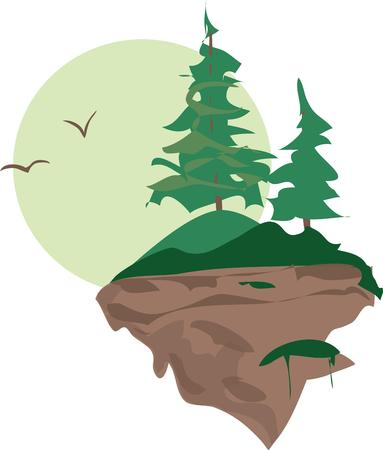 Mountainside: Use this scenic mountainside in your project. Ilustracja