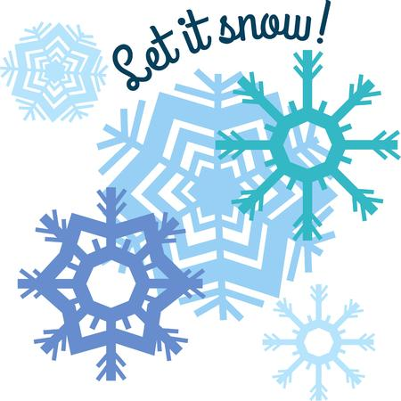 let it snow: Decorate any project with lovely snowflakes.