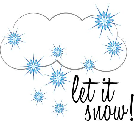 let it snow: Decorate for winter with a snowy cloud.