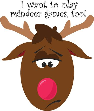 rudolph the red nosed reindeer: Kids will love a silly Rudolph the red nosed reindeer.