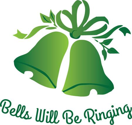 riband: Ring in the holiday with beautiful bells.