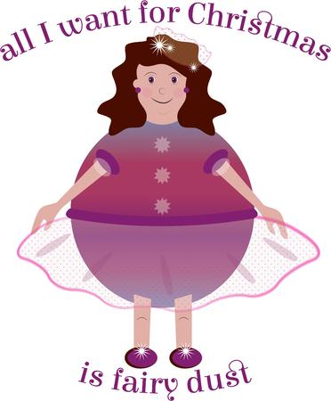 sugarplum: Girls enjoy fantasy wishes from the sugarplum fairy for Christmas. Illustration