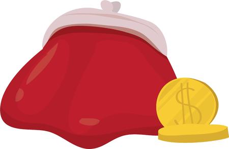 gold rush: This coin purse will be a great addition to your project.