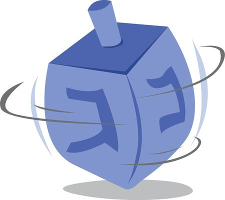 spinning: Have fun at Hanukkah with this spinning dreidel.