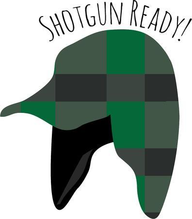 kumpel: Verwenden Sie diese J�ger Hut-Design f�r Ihr Jagdfreund. Illustration