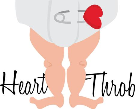 throb: Use this baby leg design for your bundle of joy project.