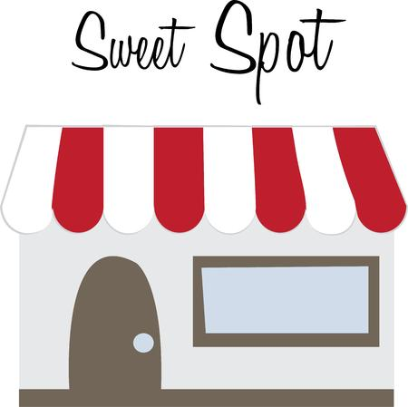 shoppe: Use this chocolate shoppe design for your next project.