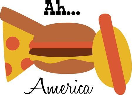 comida americana: Utilice este dise�o de la comida americana para su proyecto allAmerican.