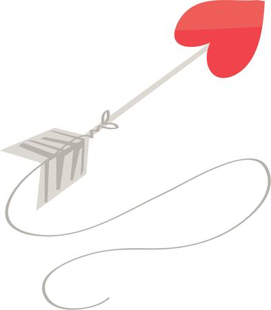struck: Use this Valentine arrow for your favorite Cupid. Illustration