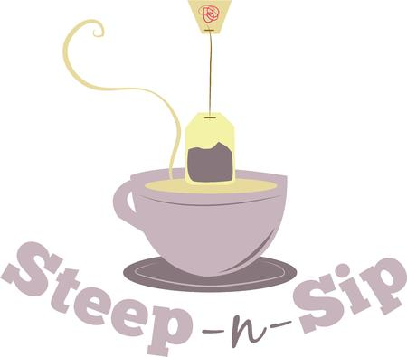 sip: Relax with a lovely cup of tea.