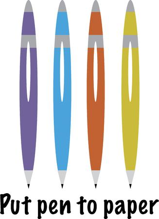 studious: Use this pen design for your studious or professional project. Illustration