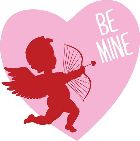 know how: Cupid is the perfect way to let your valentine know how you feel. Illustration