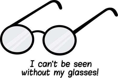 eye wear: Optomotrists like to make you a great pair of glasses. Illustration
