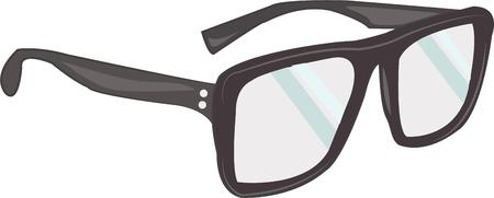 pair of glasses: Optomotrists like to make you a great pair of glasses. Illustration