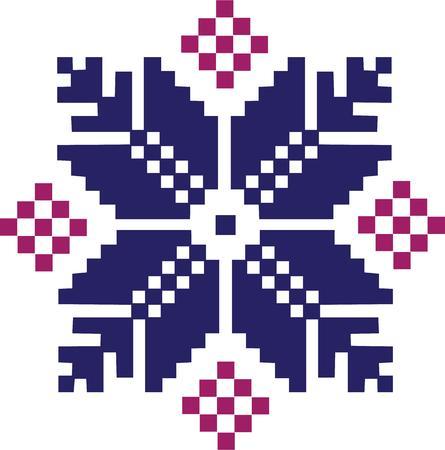 fair isle: Il modello 'isola fiera � uno dei preferiti di knitters. Vettoriali