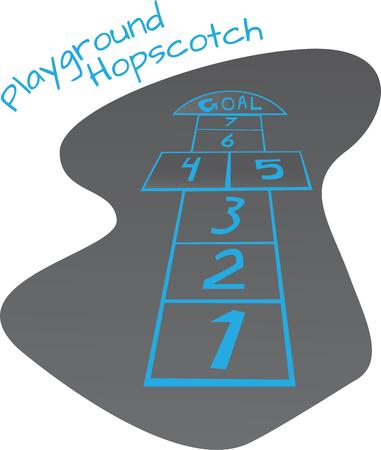 have fun: Children love to play games outside and will have fun with hopscotch.