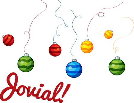 holiday tradition: Christmas ornaments are a holiday tradition. Illustration