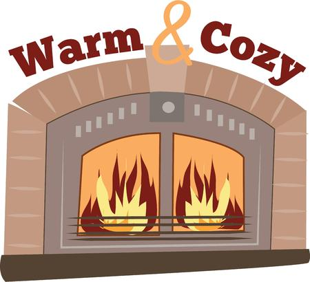 burns: Have a coxy fire for winter. Illustration