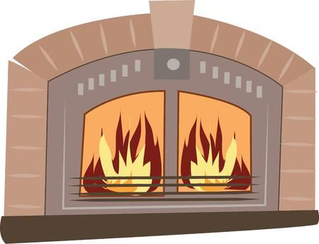 mantle: Have a coxy fire for winter. Illustration