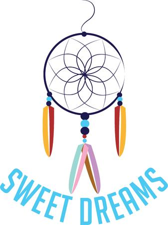 your: Use this dreamcatcher for your southwestern project.