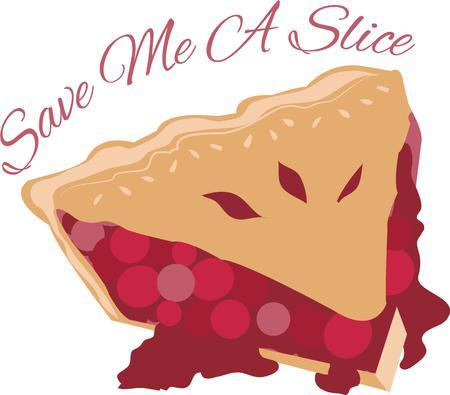 tarte aux cerises: Utilisez cette tranche de tarte aux cerises sur votre prochain projet d�licieux.