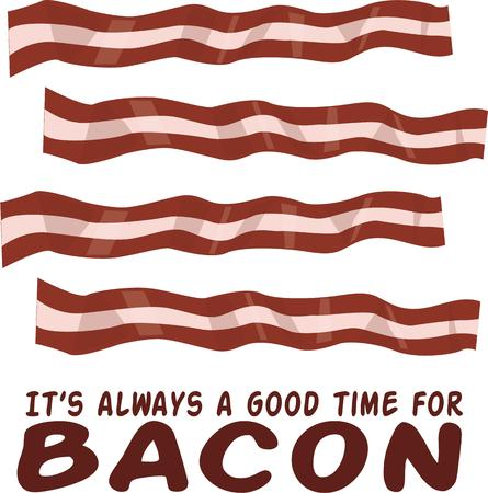bacon love: Share your love for bacon with this design.
