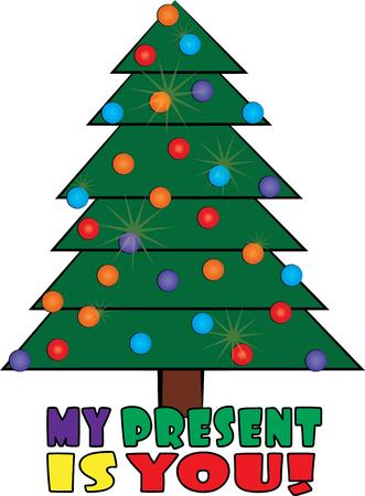 necessity: Christmas trees are a holiday decorating necessity. Illustration