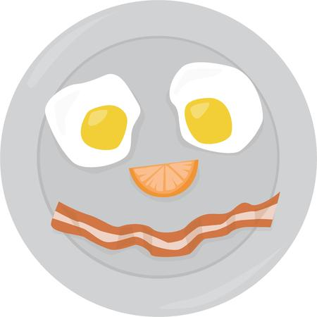 eater: Use this smiley face breakfast for your favorite little eater.
