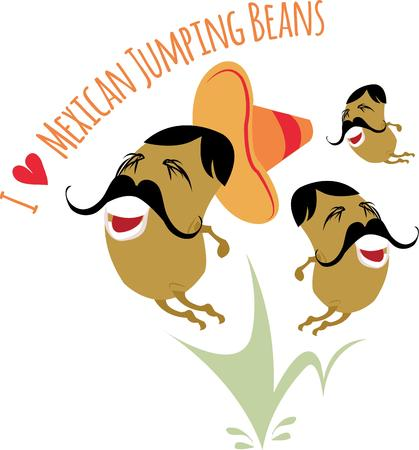 gallon: Use this fun design for your favorite jumping bean. Illustration