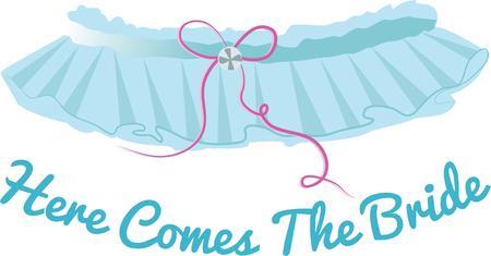 suspender: Give a bride a garter for her wedding day.