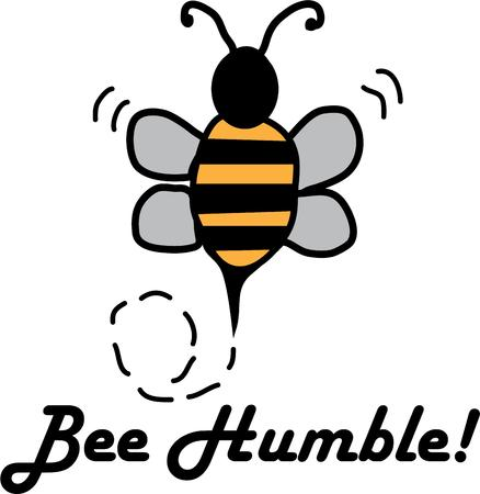 humble: Use this bumble bee on your buzzy project.