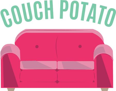bum: Use this couch design for that lazy bum in your house. Illustration