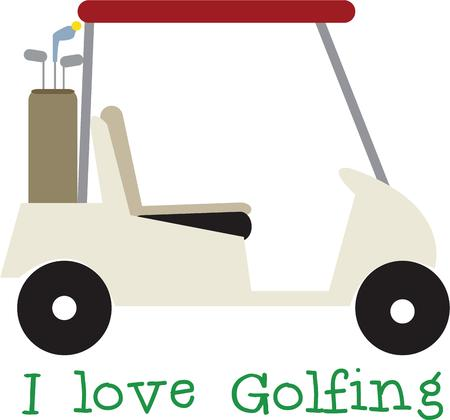 golfing: This golf cart design will be fun for a golf club head cover.