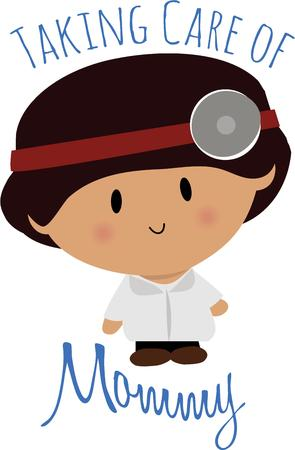 general practitioner: Have a cute little doctor for your medical needs. Illustration