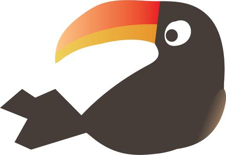 ce: Utilisez ce toucan sur votre prochain projet. Illustration
