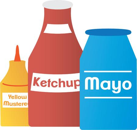 condiment: Use this condiment design for your food project.