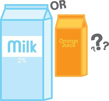 orange juice glass: Use this drink design for your breakfast project. Illustration