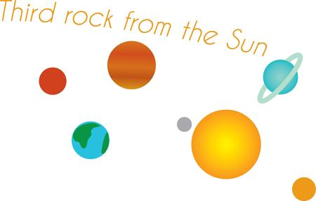 astronomer: Use this solar system design for your favorite little astronomer.